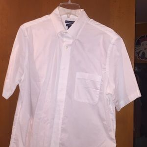 White Short Sleeve Casual Shirt